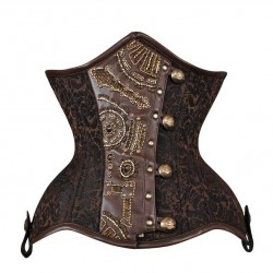 Extremely curvy steampunk corset