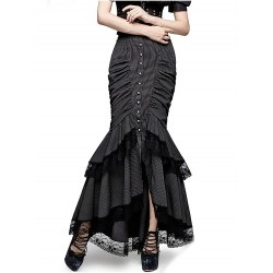Steampunk fishtail rok