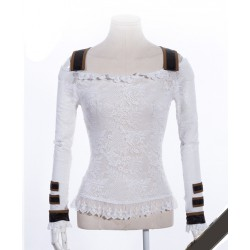 Witte steampunk top